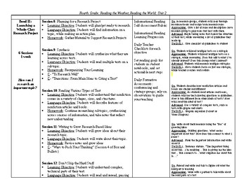 TC Reading, Reading the Weather, Reading the World - Curriculum Map