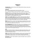 TC Reading Unit 1-First Grade (Building Good Reading Habits)