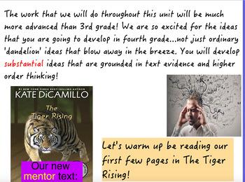 TC Reading Unit 1 (Using The Tiger Rising)-ActivInspire