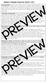 TC Reading Workshop Lesson Plan Template EDITABLE