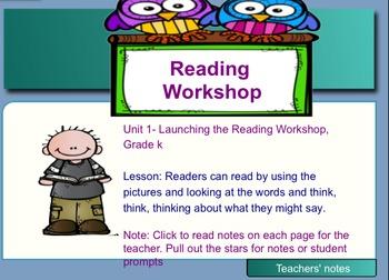 TC- Reading Workshop- Lucy Calkins- Grade K- SMART EDITION- Reading Words