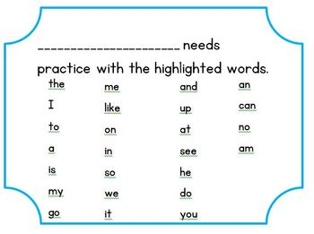 TC Sight Word Lists A-E Flashcards and Assessment