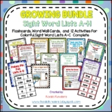 Colorful Sight Words, Word Wall Words, & Activities GROWIN