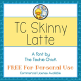 TC Skinny Latte font - Personal Use