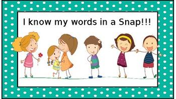 TC Snap Word Word Wall