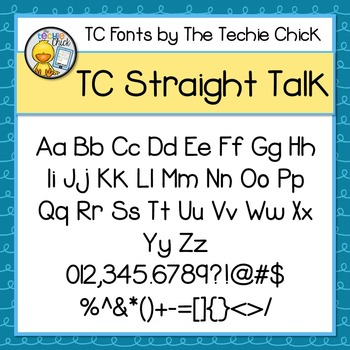 TC Straight Talk font - Personal Use