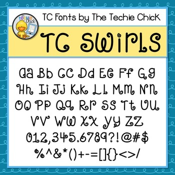 TC Swirls font - Personal Use