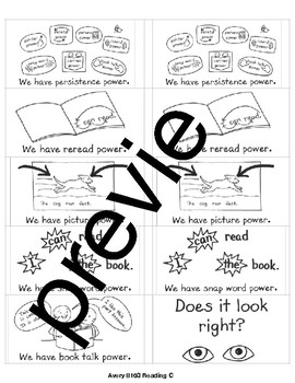 TC Teacher's College Reading Strategy Reminders for all reading levels A-Z