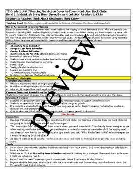 TC Teachers College All If Then Grade 1 Reading Lesson Plans