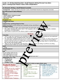 TC Teachers College All Grade 1 Writing Lesson Plans including If Then