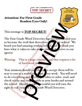 TC Teachers College Grade 1 Unit 2 If Then Word Detectives Supporting Charts