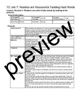 TC Teachers College Kindergarten All If/Then Reading Units Lesson Plans