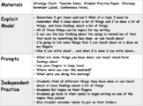TC Teachers College Kindergarten Writing Workshop Strategy Lessons & Reminders