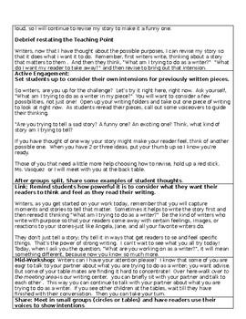 TC Unit 1 Lesson 8 Personal Narrative