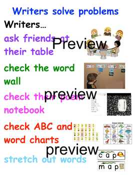 TC Writers solve problems anchor chart