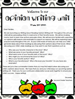 TC Writing About Reading Grade 2 Opinion Writing Workshop ALL BENDS editable