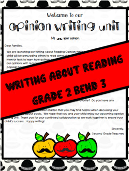 TC Writing About Reading Opinion Writing Unit Grade 2 Bend 3 Editable