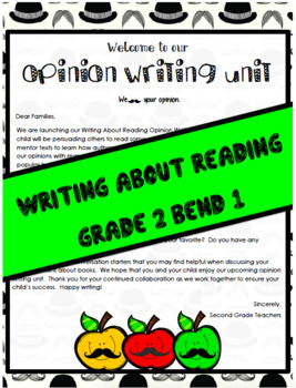 TC Writing About Reading Opinion Writing Workshop Lesson P