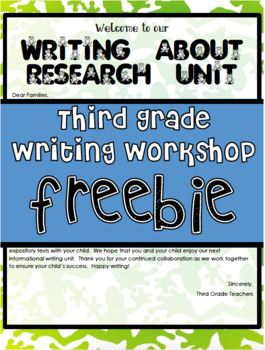 TC Writing About Research Freebie Lesson 1 Grade 3