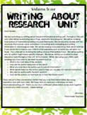 TC Research Writing Lesson Plans Grade 3 All Bends Editable