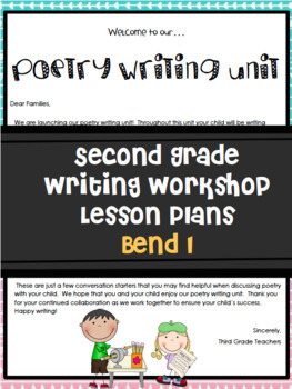 TC Writing Workshop Poetry Unit Grade 2 Editable