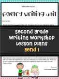 Poetry Writing Unit Grade 2 Bend 1 Editable