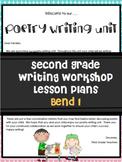 Poetry Writing Unit Grade 2 Bend 1 Editable