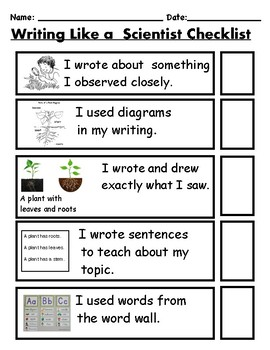 TC Writing like a Scientist Differentiated Writing Bundle/Anchor Charts