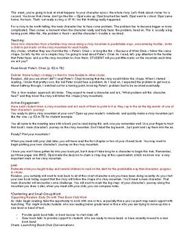 Lucy Calkins TC lesson plans Character Studies