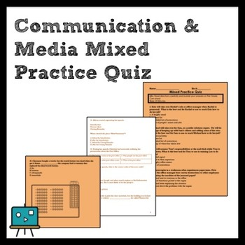 7th ELA Mixed Practice Quiz Covering Communication & Media