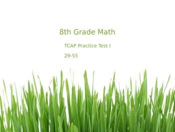 TCAP 8th Math Practice Test 29-55