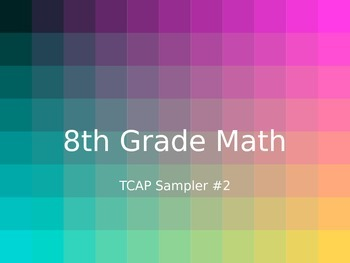 TCAP 8th Math Sampler 2