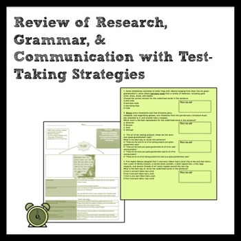 ELA: Mixed Skill Review and Quiz for Writing/Research & Comm./Media