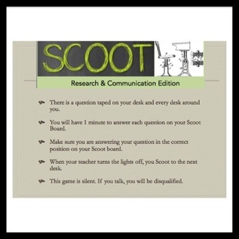 ELA: Scoot Review Game for Writing/Research + Comm/Media