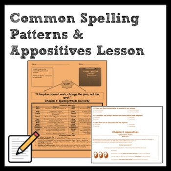 Spelling Words Correctly + Appositives Lesson