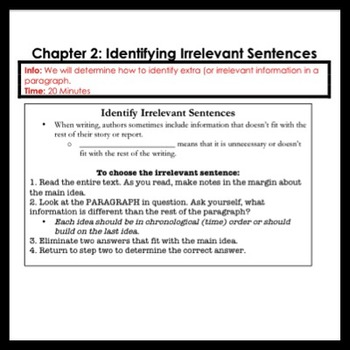 ELA Writing and Research: Most Reliable Source + Irrelevant Sentence