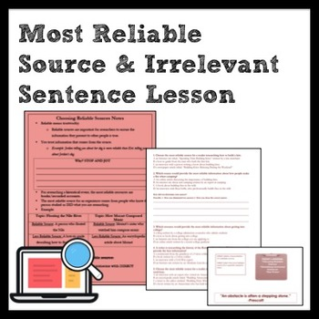 ELA Writing and Research: Most Reliable Source + Irrelevan