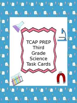 TCAP PREP - Third Grade  - Science Task Cards