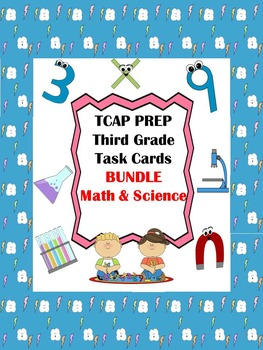 TCAP PREP - Third Grade Task Cards Bundle - Math & Science