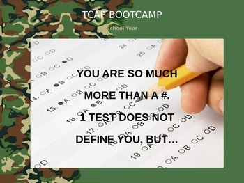 TCAP PowerPoint Template - Bootcamp Camouflage Theme