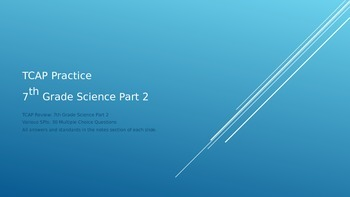 TCAP Review: 7th Grade Science Part 2
