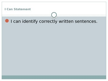 TCAP Review Sentences