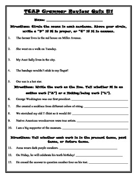 Grammar worksheets 4th grade level