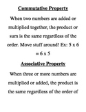 TCAP State Test Vocabulary Review Matching Game - Math