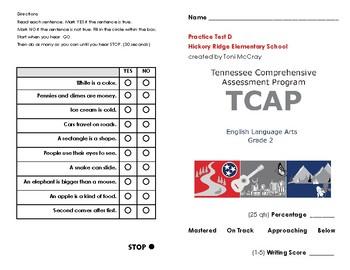 2nd Grade TN Ready TCAP ELA Practice Test D