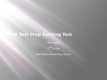 TCAP Test Prep Spelling Test-Plural Nouns