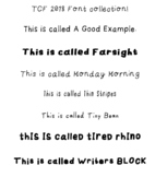TCF Fall 2018 Font Bundle