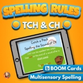 TCH and CH Spelling Rule Digital Boom Task Cards