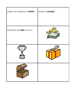 TCI Ancient History Chapters 2 & 3 Review Board Game Cards