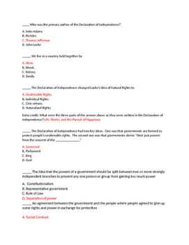 TCI Government Alive! Chapter 3-1 to 3-3 quiz